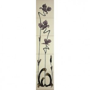 Reproduction Jazz lilac and ivory Tiles