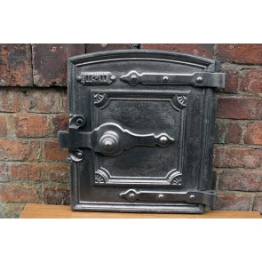 Antique Cast Iron range Fire Door Clay Bread Oven Door Pizza Stove