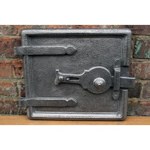 Antique cast iron range door ideal for clay oven or pizza stove