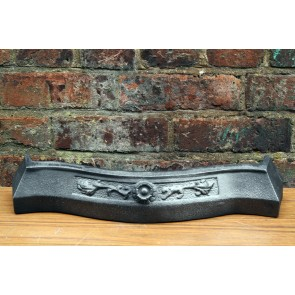 Cast iron fire front ash pan cover