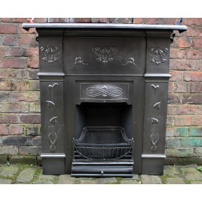 Reclaimed Art Nouveau Combination Fireplace