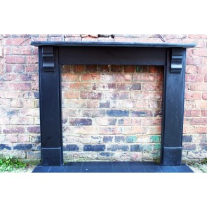 Antique Late Victorian Slate Fire surround  RESERVED