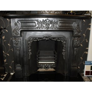 Original Antique Late Victorian Rococo Style Fire Surround