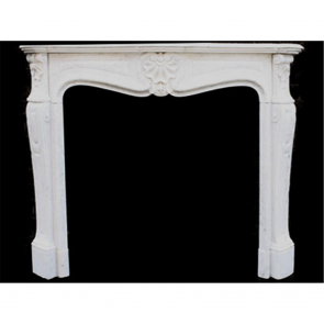 Louis 15Th Xv Fire Surround In Marble Carrera Marble