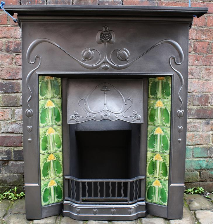 Art Nouveau Antique Fireplace